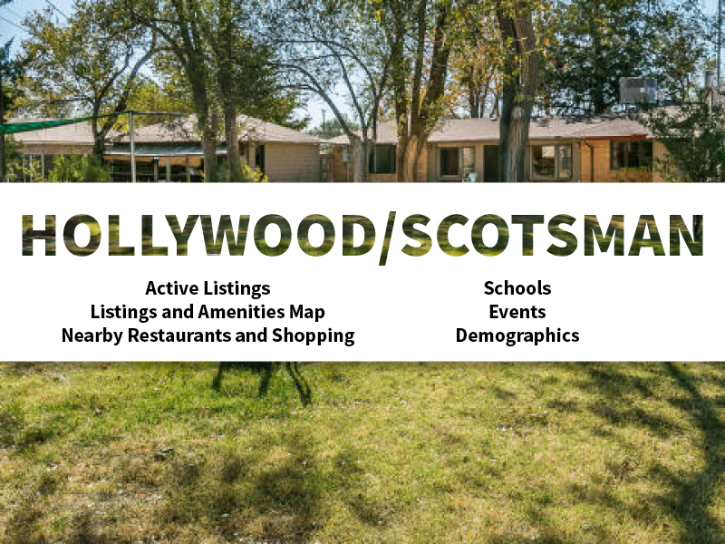 Hollywood Scotsman Real Estate Neighborhood in Amarillo page featuring neighborhood description, amenities and listings map, nearby restaurants, shopping, events and schools, and neighborhood demographics