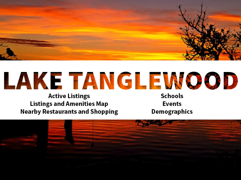 Lake Tanglewood Real Estate Neighborhood in Amarillo page featuring neighborhood description, amenities and listings map, nearby restaurants, shopping, events and schools, and neighborhood demographics