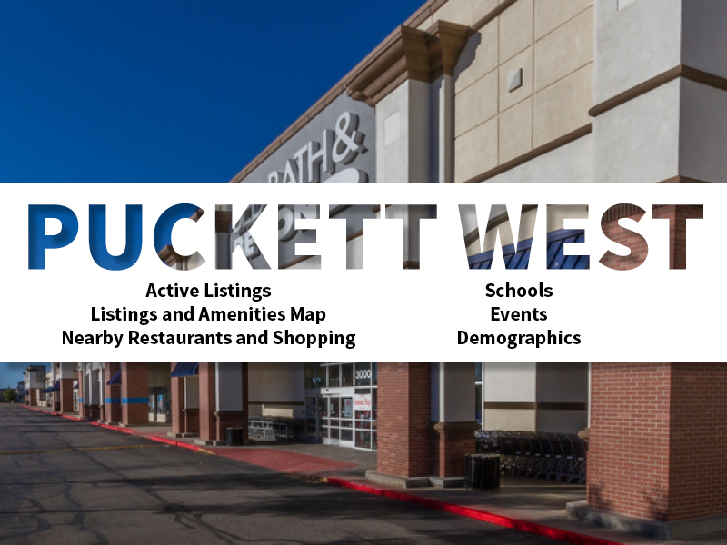 Puckett West Real Estate Neighborhood in Amarillo page featuring neighborhood description, amenities and listings map, nearby restaurants, shopping, events and schools, and neighborhood demographics