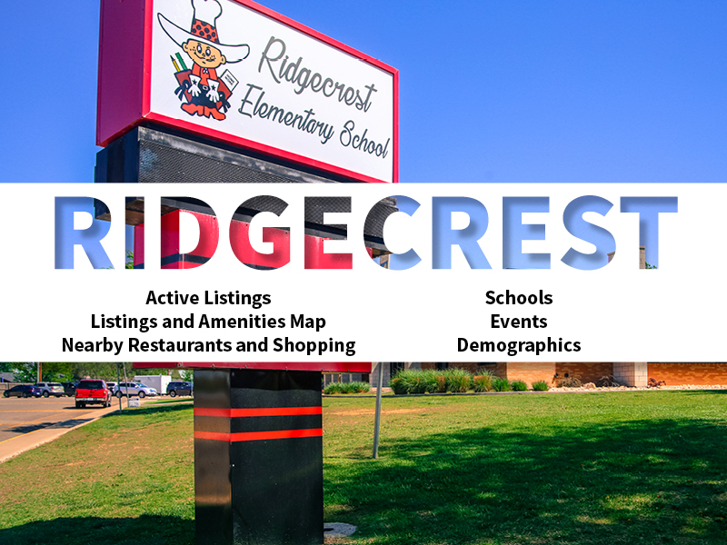 Ridgecrest Real Estate Neighborhood in Amarillo page featuring neighborhood description, amenities and listings map, nearby restaurants, shopping, events and schools, and neighborhood demographics