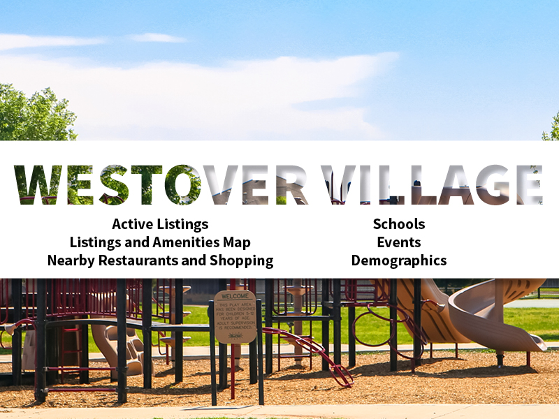 Westover Village Real Estate Neighborhood in Amarillo page featuring neighborhood description, amenities and listings map, nearby restaurants, shopping, events and schools, and neighborhood demographics