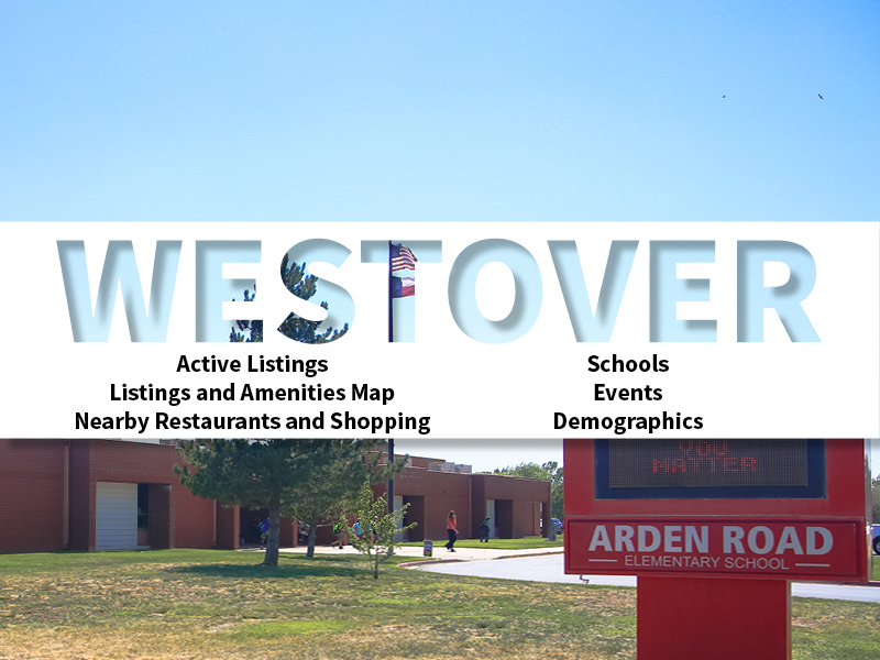Westover Real Estate Neighborhood in Amarillo page featuring neighborhood description, amenities and listings map, nearby restaurants, shopping, events and schools, and neighborhood demographics